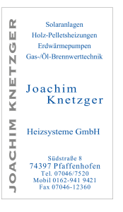 Wärmepumpen Fachbetrieb Knetzger