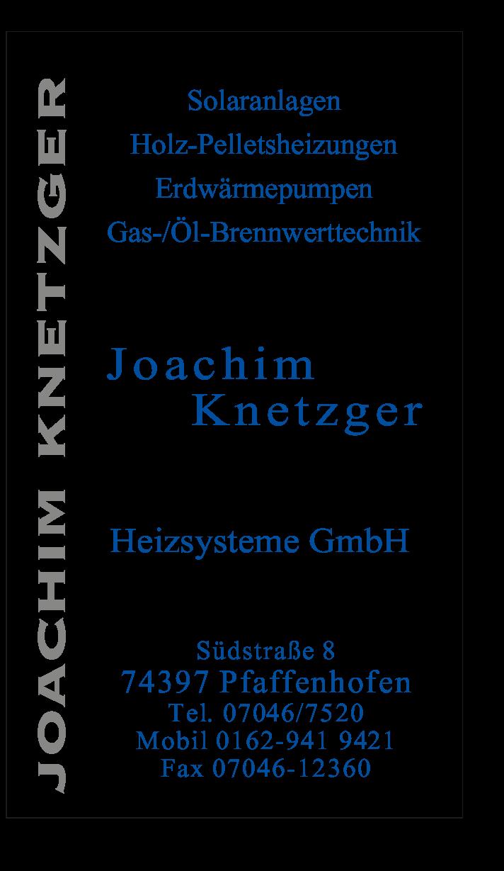 Wärmepumpen und Heizungs-Fachbetrieb Knetzger