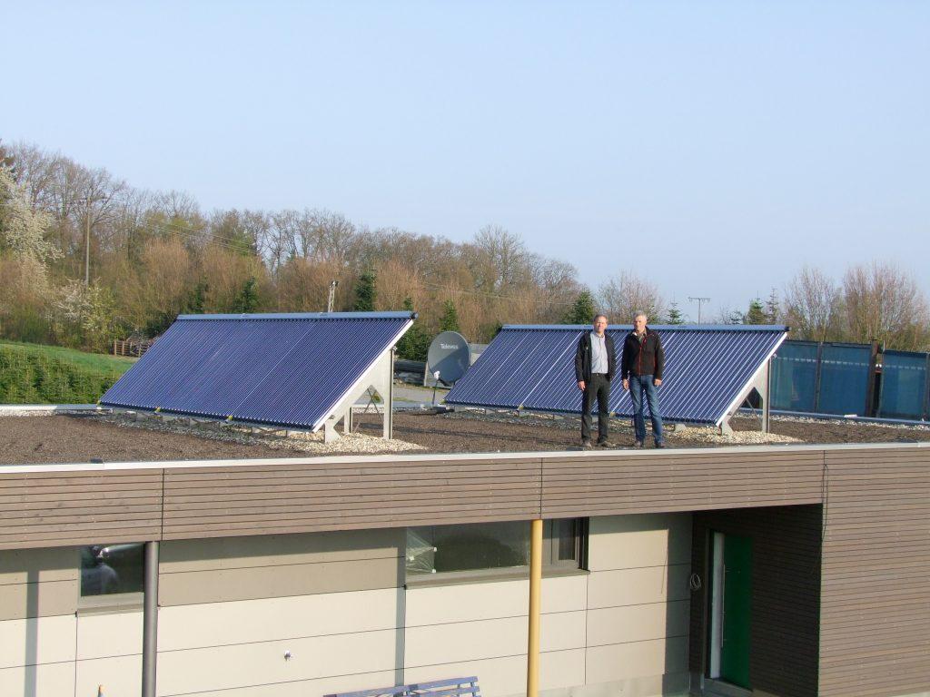 Solarheizung auf einem Flachdach